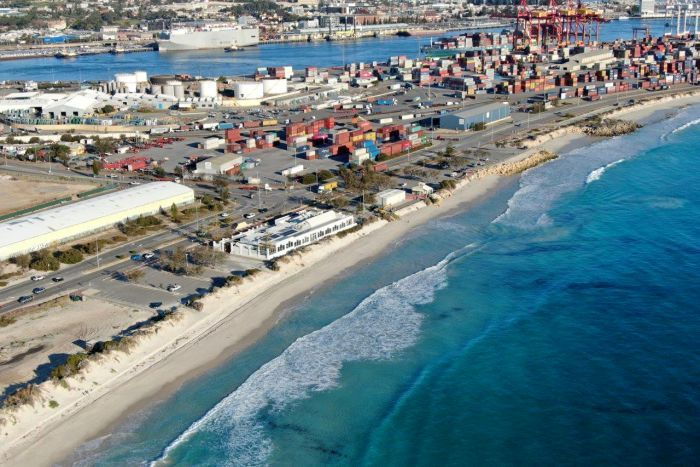 Drastic plan to relocate Port Beach buildings to stop them crumbling into the ocean